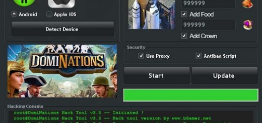 DomiNations Cheats Hack Tool DomiNations is a strategy game, available for Android and iOS devices. Lead your Nation to ultimate victory throughout all of human history. This game, as all the strategy games, is based on ressources like Gold, Food and Crowns. With these ressources you can raise your nation, and rule the DomiNations world. Advance through all of human history, recruit the most important generals from antiquity and conquer the world in single-player campaign.