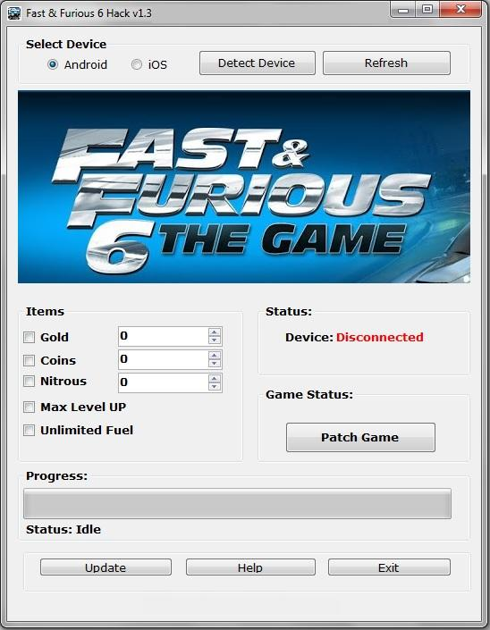 Fast and Furious 6 The Game Hack
