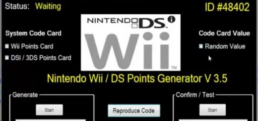 Nintendo eShop Code Generator Hello friends. Today we have good news for you , we just finished Nintendo eShop Code Generator.Is awesome , you can generate unlimited points card codes for Nintendo 3DS/Wii/DSi.Is very easy to use , in just few minutes with just few clicks you can generate your code.All you need to do is to Download and run Nintendo eShop Code Generator , select system code card ( Wii Points Card, DSI/3DS points card) , click random value.