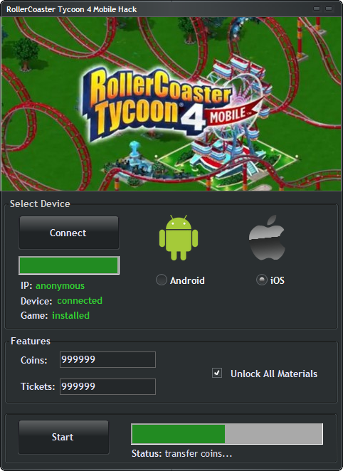 RollerCoaster Tycoon 4 Mobile Hack Telecharger RollerCoaster Tycoon 4 Mobile Hack [Android / IOS] – Comment Pirater RollerCoaster Tycoon 4 Mobile Triche