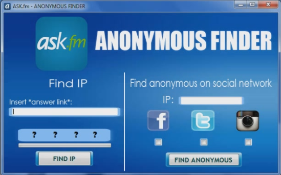 Ask FM Hack Anonymous Finder /Tracker Tool