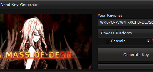 """A Mass of Dead Key Generator When you'll open our generator you'll see 2 options """"Console"""" and """"PC"""" to ensure you that you get a good key, we suggest you to choose the platform, if you'll not select the platform, the generator will generate a random key."""