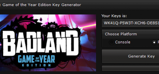 """BADLAND Game of the Year Edition Key Generator When you'll open our generator you'll see 2 options """"Console"""" and """"PC"""" to ensure you that you get a good key, we suggest you to choose the platform, if you'll not select the platform, the generator will generate a random key."""