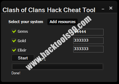 Clash of Clans Cheat Tool