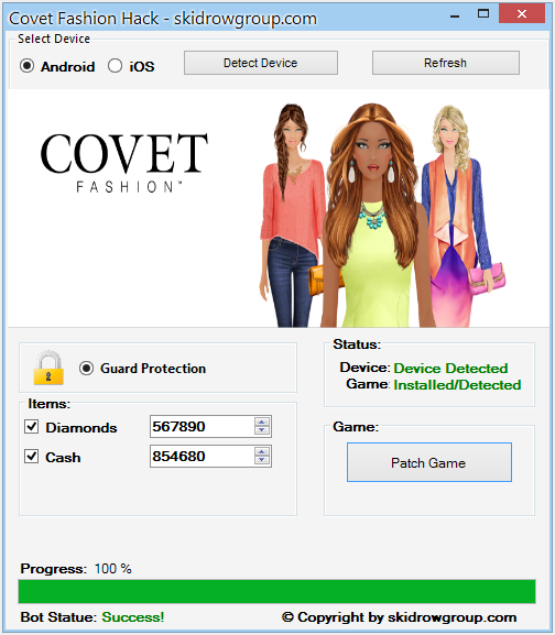 Covet Fashion Hack - Android iOS Cheats