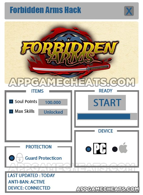forbidden-arms-cheats-hack-soul-points-max-skills