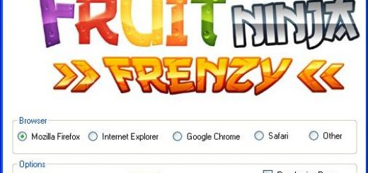 Fruit Ninja Frenzy Hack Today we introduce to you the 100% working Fruit Ninja Frenzy Hack Tool which add unlimited juice or starfruit to your facebook application in just one second. All you need to do is just to login and press activate hack. We guarantee you that you will be the best Fruit Ninja Frenzy player after use this amazing tool.