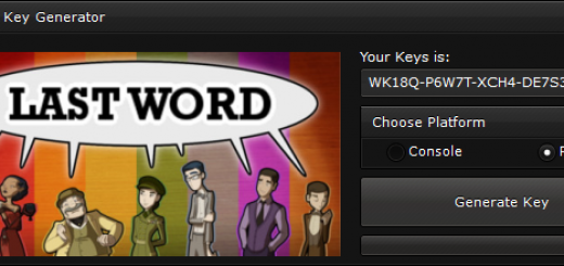 """Last Word CD-Key Generator When you'll open our generator you'll see 2 options """"Console"""" and """"PC"""" to ensure you that you get a good key, we suggest you to choose the platform, if you'll not select the platform, the generator will generate a random key."""