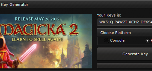 """Magicka 2 CD-Key Generator When you'll open our generator you'll see 2 options """"Console"""" and """"PC"""" to ensure you that you get a good key, we suggest you to choose the platform, if you'll not select the platform, the generator will generate a random key."""