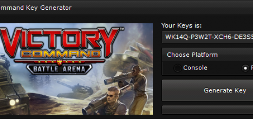 "Victory Command CD-Key Generator When you'll open our generator you'll see 2 options ""Console"" and ""PC"" to ensure you that you get a good key, we suggest you to choose the platform, if you'll not select the platform, the generator will generate a random key."