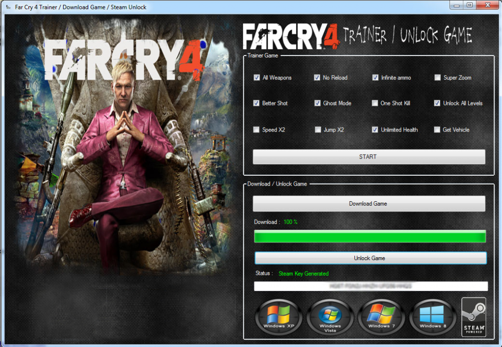 far cry 4 trainer pc ps34 xbox 360one Far Cry 4 Trainer (PC, PS3/4, Xbox 360/One)
