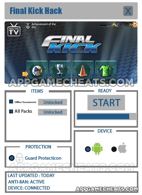 Final Kick Hack for Offline Tournaments & All Packs Unlock