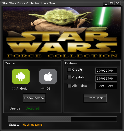 star wars force collection hack androidios 2014 Star Wars Force Collection Hack (Android/iOS) 2014