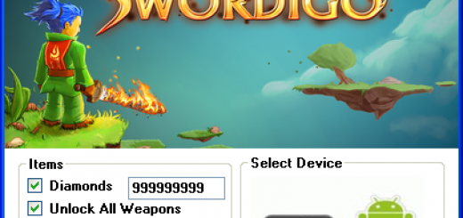 Swordigo Hack Tool Today we introduce to you the 100% working Swordigo Hack Tool which add unlimited Diamonds and Unlock All Weapons to your devices application in just one second. All you need to do is just to login and press activate hack. We guarantee you that you will be the best Swordigo player after use this amazing tool.