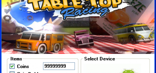 Table Top Racing Hack Today we introduce to you the 100% working Table Top Racing Hack Tool which add unlimited Coins and Coin Dubler to your devices application in just one second. All you need to do is just to login and press activate hack. We guarantee you that you will be the best Table Top Racing player after use this amazing tool.