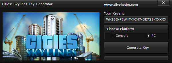 Cities Skylines Key Generator