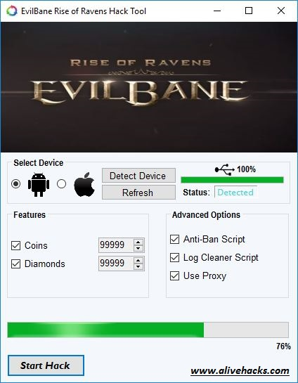 EvilBane Rise of Ravens Hack