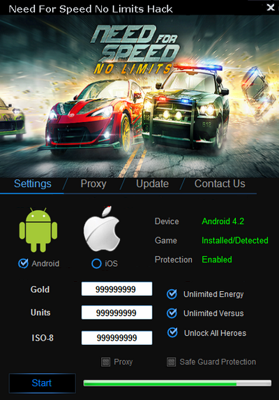 Need For Speed No Limits Hack