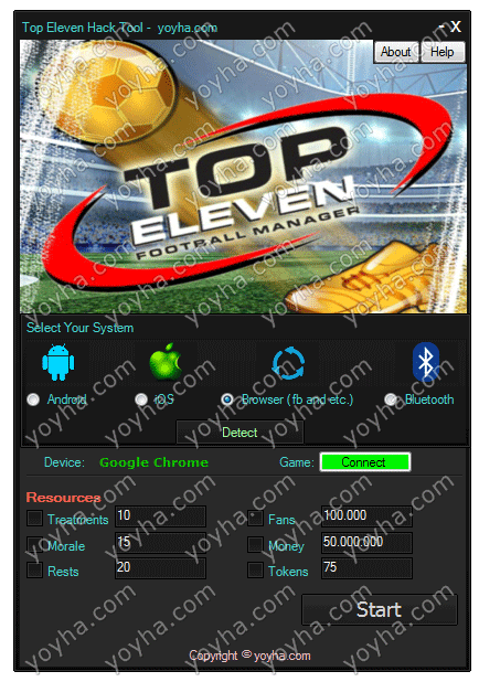 Top Eleven Cheats and Hack Tool
