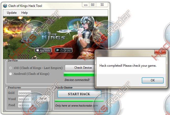 Clash of Kings Hack Cheats