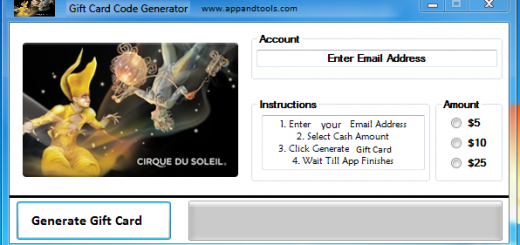 Cirque du Soleil Gift Card Generator We are offering Cirque du Soleil Gift Card Generator. In this post we are going to review you how to get the gift card for free, without paying anything. Why using your credit card and spending a lot of money if you don't need to do that? :) Here is this awesome tool, easy to use. Here is the best tool available on internet regarding this kind of store, Cirque du Soleil Gift Card Generator.