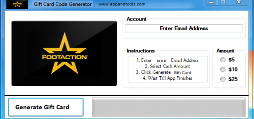 Footaction Gift Card Generator We are offering Footaction Gift Card Generator. In this post we are going to review you how to get the gift card for free, without paying anything. Why using your credit card and spending a lot of money if you don't need to do that? :) Here is this awesome tool, easy to use. Here is the best tool available on internet regarding this kind of store, Footaction Gift Card Generator.