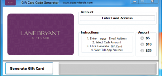 Lane Bryant Gift Card Generator We are offering Lane Bryant Gift Card Generator. In this post we are going to reviewyou how to get the gift cardfor free, without paying anything. Why using your credit card and spending a lot of money if you don't need to do that? :) Here isthis awesome tool, easy to use. Here is the best tool available on internet regarding this kind of store, Lane BryantGift Card Generator.