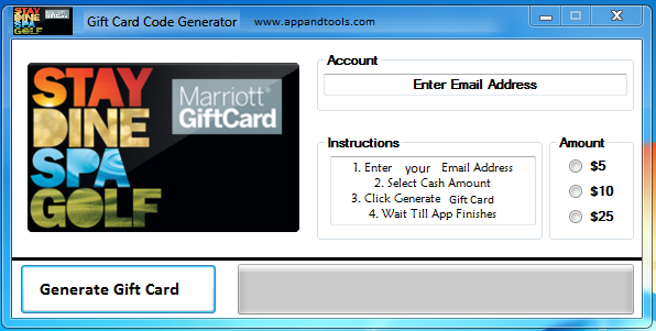 Marriott Gift Card Generator