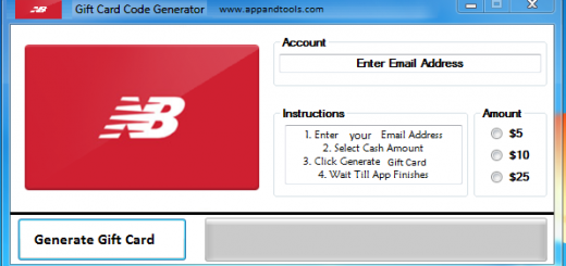 New Balance Gift Card Generator We are offering New Balance Gift Card Generator. In this post we are going to review you how to get the gift card for free, without paying anything. Why using your credit card and spending a lot of money if you don't need to do that? :) Here is this awesome tool, easy to use. Here is the best tool available on internet regarding this kind of store, New Balance Gift Card Generator.