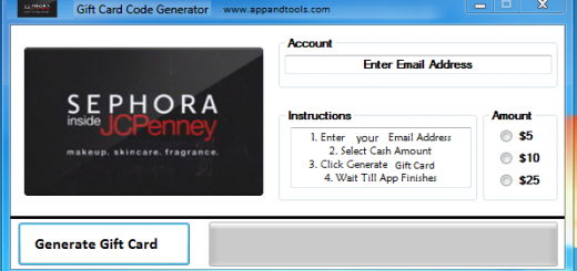 Sephora Inside JCPenney Gift Card Generator We are offering Sephora Inside JCPenney Gift Card Generator. In this post we are going to review you how to get the gift card for free, without paying anything. Why using your credit card and spending a lot of money if you don't need to do that? :) Here is this awesome tool, easy to use. Here is the best tool available on internet regarding this kind of store, Sephora Inside JCPenney Gift Card Generator.