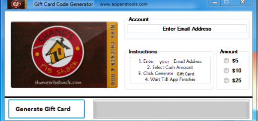 Shane's Rib Shack Gift Card Generator We are offering Shane's Rib Shack Gift Card Generator. In this post we are going to review you how to get the gift card for free, without paying anything. Why using your credit card and spending a lot of money if you don't need to do that? :) Here is this awesome tool, easy to use. Here is the best tool available on internet regarding this kind of store, Shane's Rib Shack Gift Card Generator.
