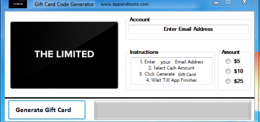 The Limited Gift Card Generator We are offering The Limited Gift Card Generator. In this post we are going to review you how to get the gift card for free, without paying anything. Why using your credit card and spending a lot of money if you don't need to do that? :) Here is this awesome tool, easy to use. Here is the best tool available on internet regarding this kind of store, The Limited Gift Card Generator.