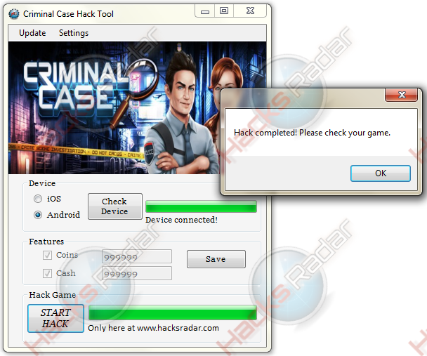Criminal Case Cheats Hack Free Coins Cash