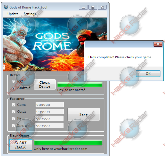 Gods of Rome Hack Cheats