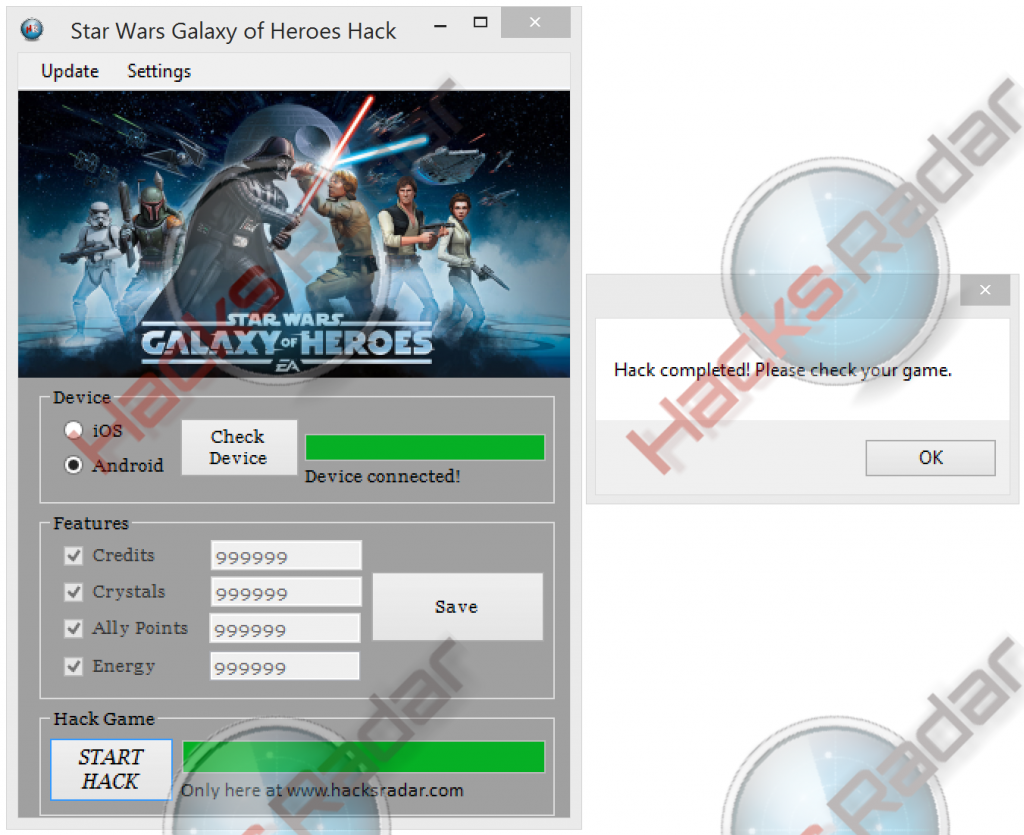 Star Wars Galaxy of Heroes Cheats Free credits, focuses ...