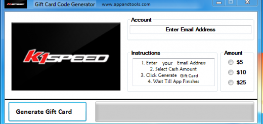 K1 Speed Gift Card Generator We are offering K1 Speed Gift Card Generator. In this post we are going to review you how to get the gift card for free, without paying anything. Why using your credit card and spending a lot of money if you don't need to do that? :) Here is this awesome tool, easy to use. Here is the best tool available on internet regarding this kind of store, K1 Speed Gift Card Generator.