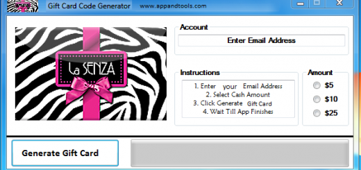 La SENZA Gift Card Generator We are offering La SENZA Gift Card Generator. In this post we are going to review you how to get the gift card for free, without paying anything. Why using your credit card and spending a lot of money if you don't need to do that? :) Here is this awesome tool, easy to use. Here is the best tool available on internet regarding this kind of store, La SENZA Gift Card Generator.