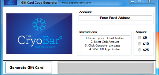 The CryoBar Gift Card Generator We are offering The CryoBar Gift Card Generator. In this post we are going to review you how to get the gift card for free, without paying anything. Why using your credit card and spending a lot of money if you don't need to do that? :) Here is this awesome tool, easy to use. Here is the best tool available on internet regarding this kind of store, The CryoBar Gift Card Generator.