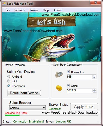 Let's Fish Cheat Banknotes Coins Trainer