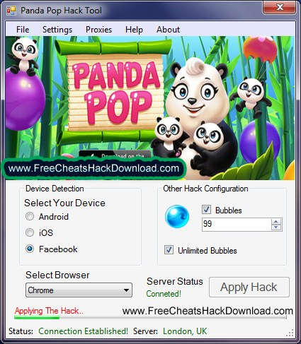 Panda Pop Cheats Bubbles Trainer