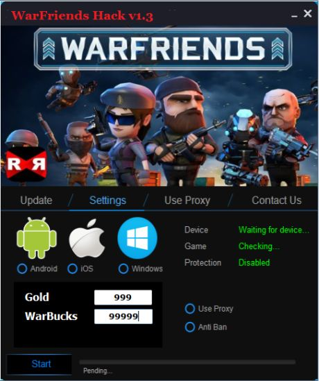Warfriends Hack Tool Cheats