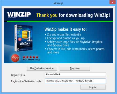 WinZip 19 Activation Codes, Serial Key