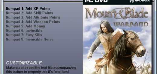 MOUNT & BLADE WARBAND - TRAINER
