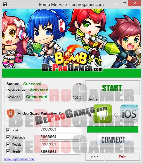 Bomb Me Hack Tool (DIAMONDS GENERATOR) Gold Cheats