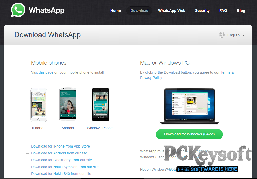WhatsApp For PC Free Download Latest Version 2016
