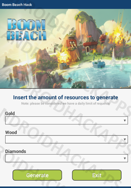 Boom Beach Hack APK Gold, Wood and Diamonds