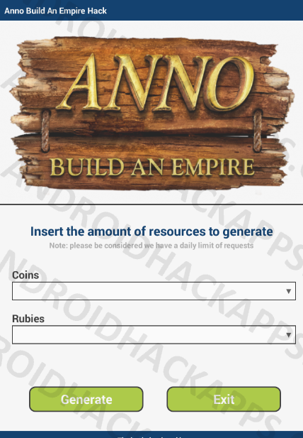 Anno Build An Empire Hack APK Coins and Rubies