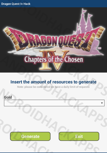 Dragon Quest Iv Hack APK Gold