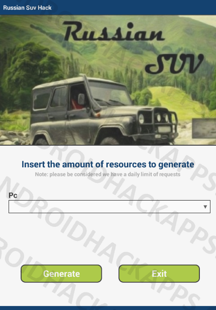 Russian Suv Hack APK Pc