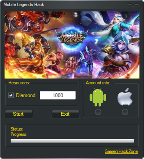 Mobile Legends Hack Diamonds, 1,000 Diamond and 5,000 Diamonds